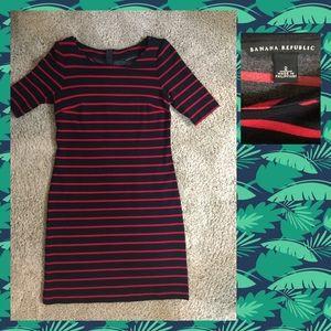 Banana Republic dress, sz 2, navy and red.